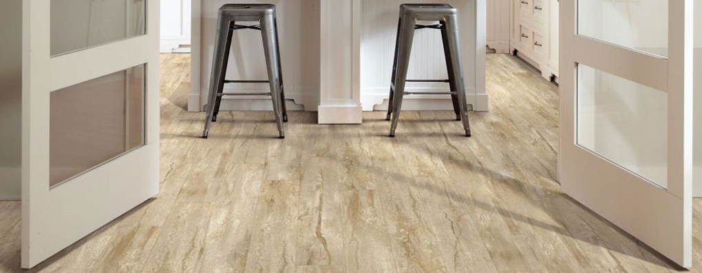 Laminate floors are low-maintenance, durable and offer wood and stone visuals